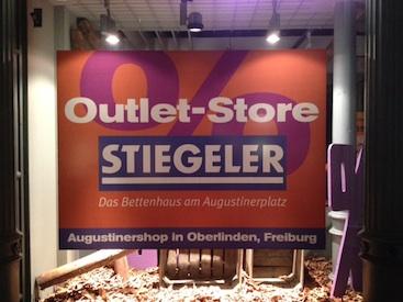 nur im November: Stiegeler Outlet-Store auf Zeit