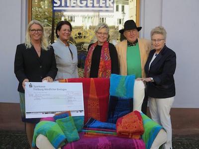 Spende von 5.000 Euro an den Freiburger Münsterbauverein zu Gunsten der Turmsanierung