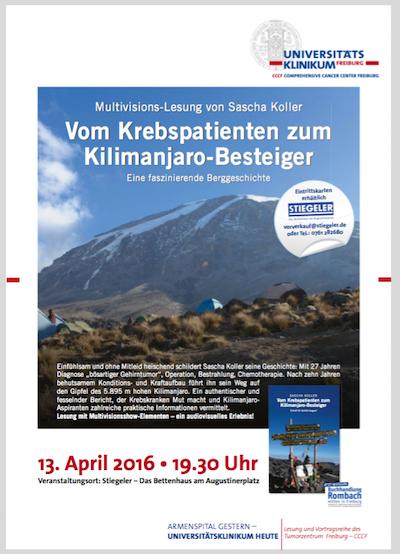 Multivisions-Lesung von Sascha Koller im Bettenhaus Stiegeler am 13.04.16