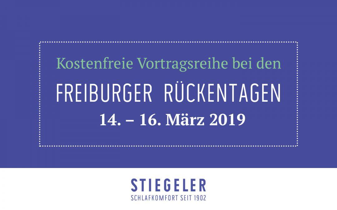 Freiburger Rückentage bei Stiegeler Schlafkomfort vom 14. bis 16. März 2019
